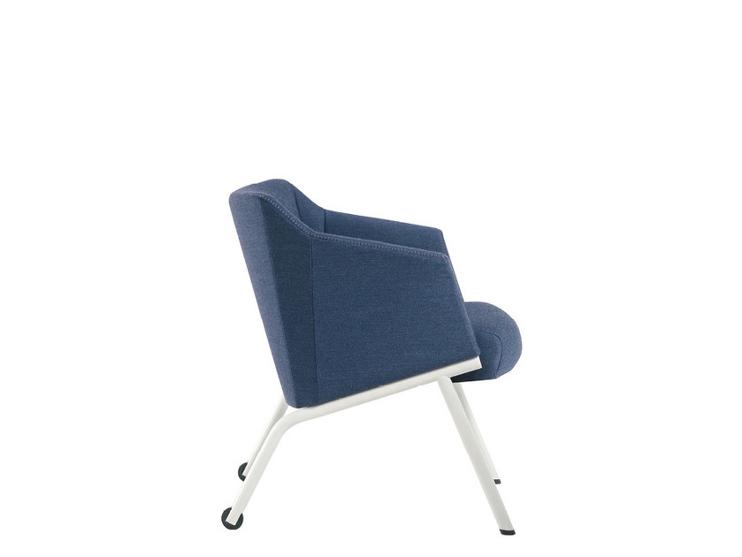 Fabric reception chair with armrests DAMA PLAIN | Chair with armrests - Sesta