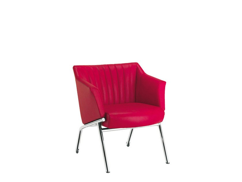 Reception chair with armrests DAMA STRIP | Chair with armrests - Sesta