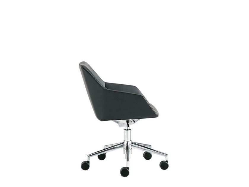 Reception chair with casters DAMA STRIP | Chair with casters - Sesta