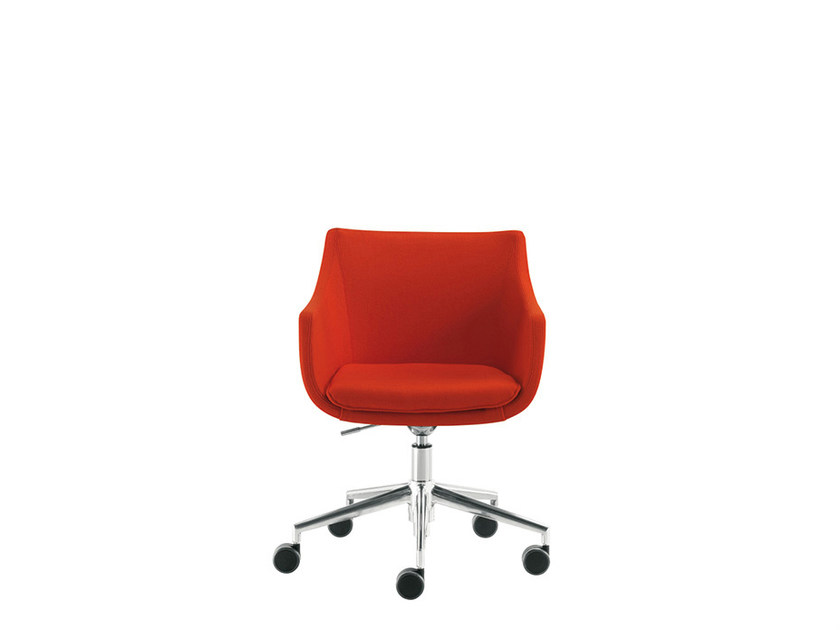 Reception chair with casters D&N PLUS | Chair with casters - Sesta