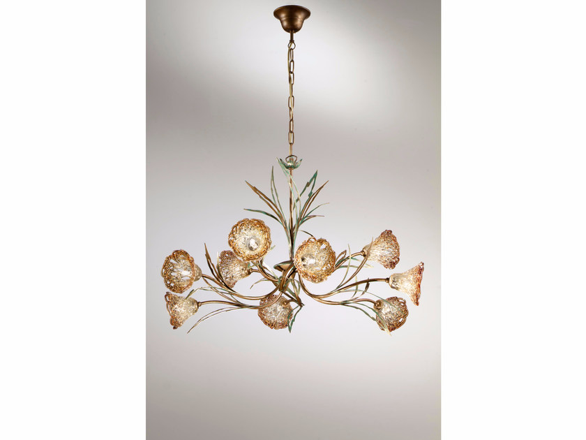 Direct light crystal chandelier BETULLA | Chandelier - IDL EXPORT