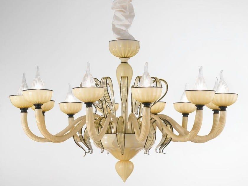Murano glass chandelier EPOQUE | Chandelier - IDL EXPORT