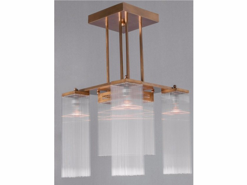 Direct light handmade brass chandelier HOFFMANN I | Chandelier - Patinas Lighting