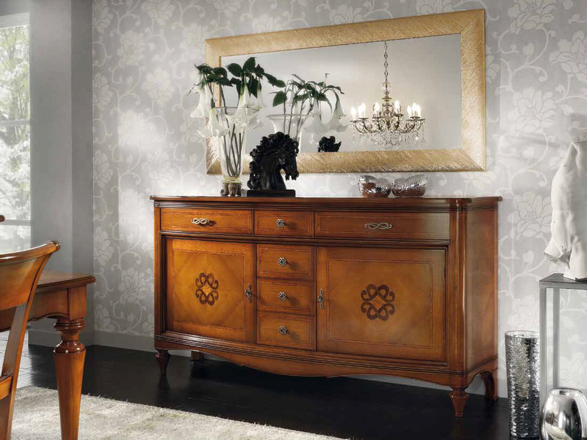 Solid wood sideboard with doors CHANEL | Sideboard by Arvestyle