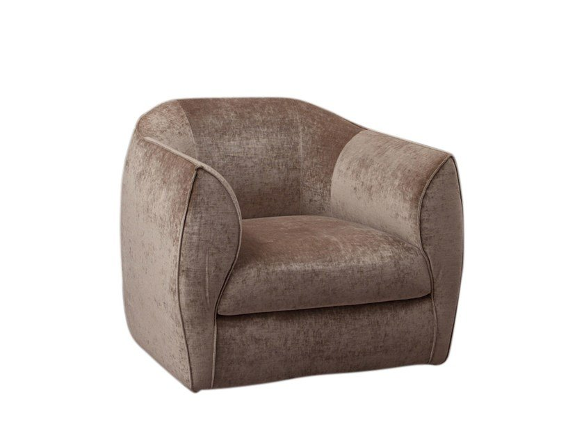 Armchair with removable cover CHARME | Armchair - Twils