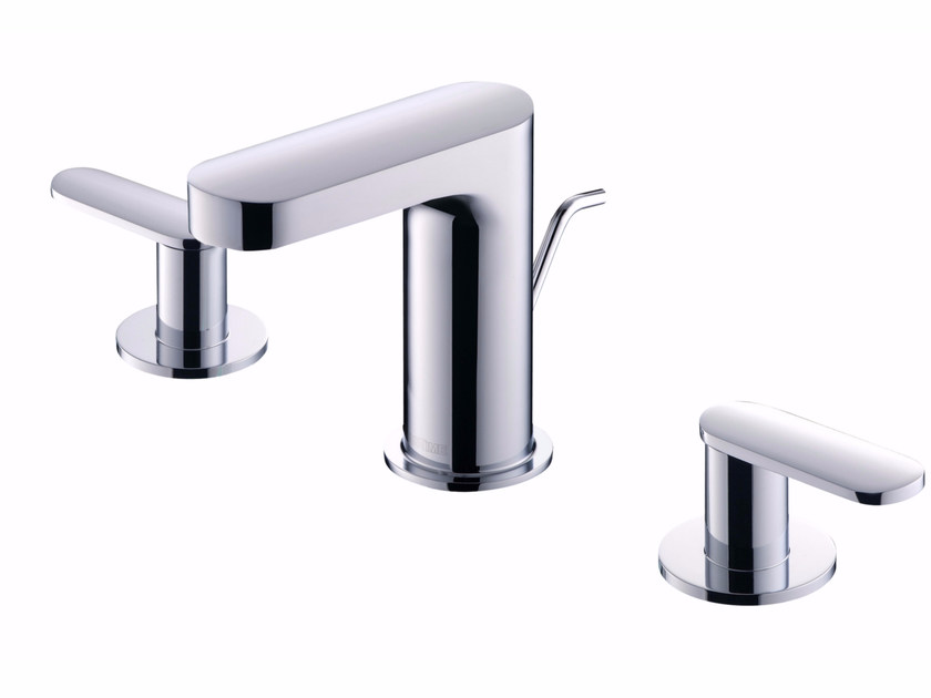 3 hole countertop chromed brass washbasin tap CHARMING | 3 hole washbasin tap - JUSTIME