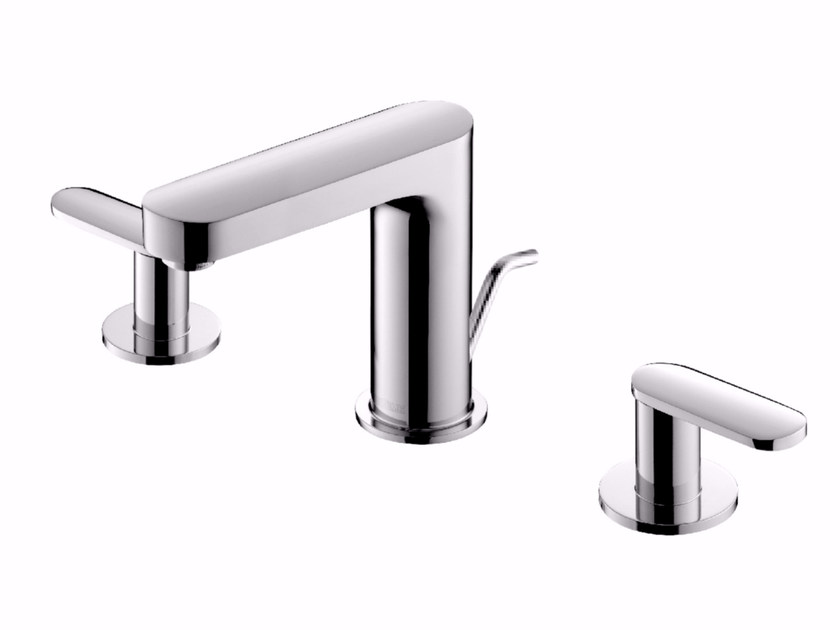 3 hole countertop chromed brass washbasin tap CHARMING PLUS | Washbasin tap by JUSTIME