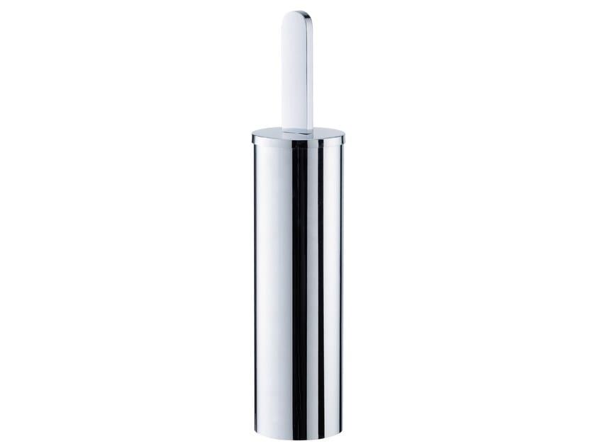 Wall-mounted chromed brass toilet brush CHARMING | Wall-mounted toilet brush - JUSTIME