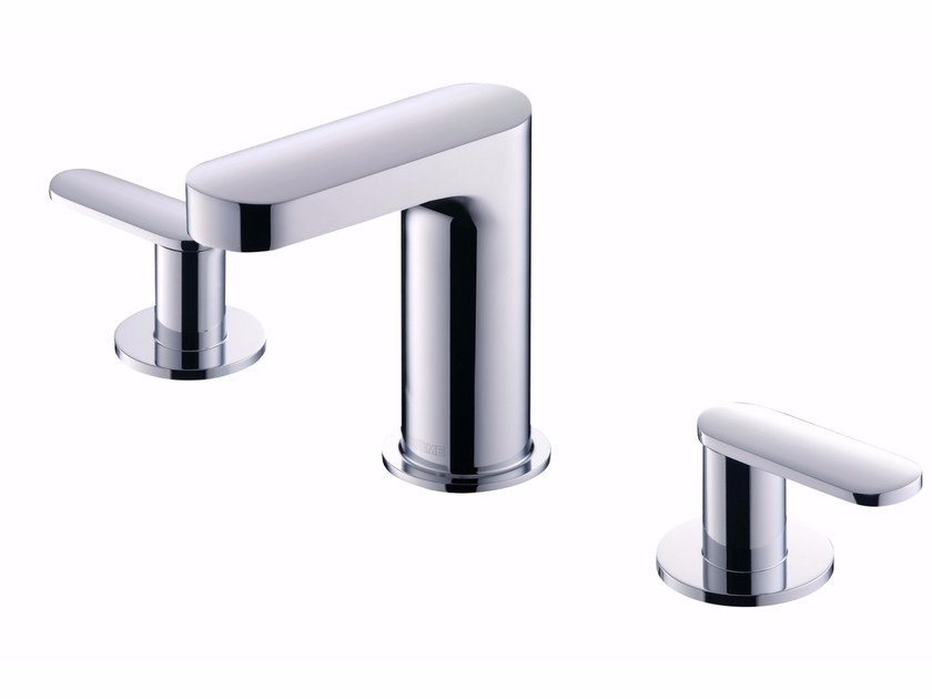 3 hole countertop chromed brass washbasin tap CHARMING | Washbasin tap by JUSTIME