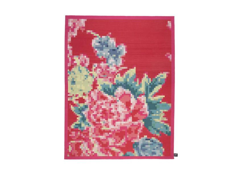 Tappeto a fiori fatto a mano in lana CHECK 5 - cc-tapis ®
