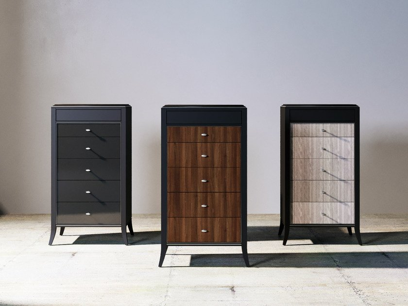 Free standing wooden chest of drawers RELIEF | Chest of drawers by ITALIANELEMENTS