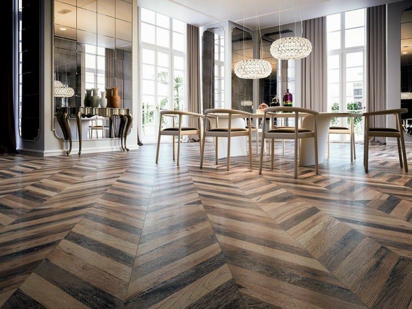 Pavimento in gres porcellanato effetto legno chevron for Spessore parquet
