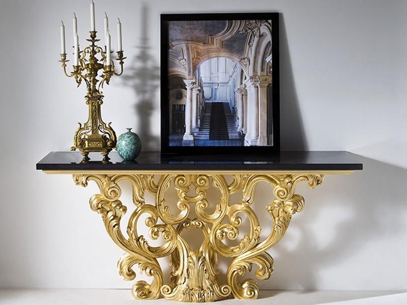 Rectangular marble console table CHIGI - Rozzoni Mobili d'Arte