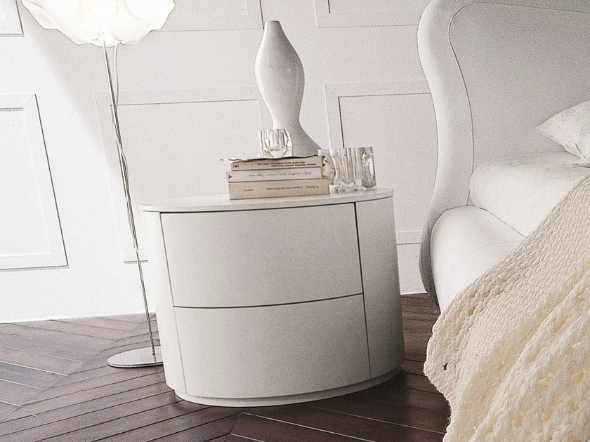 Lacquered bedside table with drawers CHRISTAL | Lacquered bedside table - Dall'Agnese