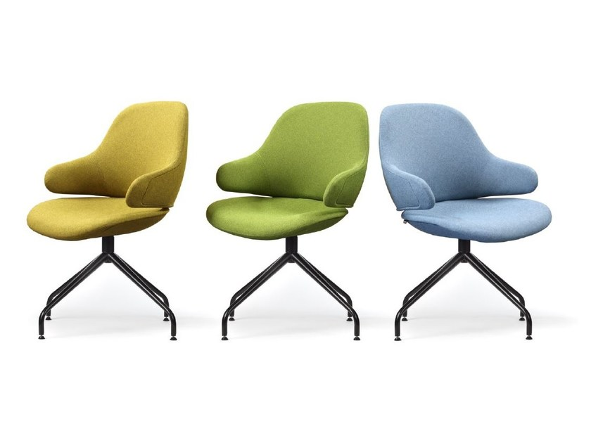 Trestle-based easy chair with armrests CIEL! TONIC | Upholstered easy chair by TABISSO