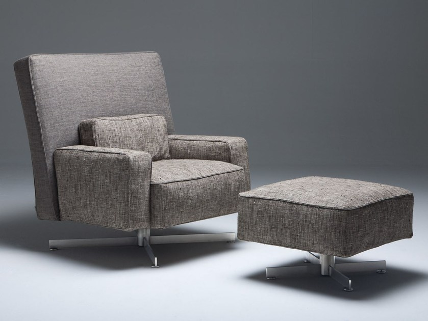 Armchair with 4-spoke base CINEMASCOPE - Driade