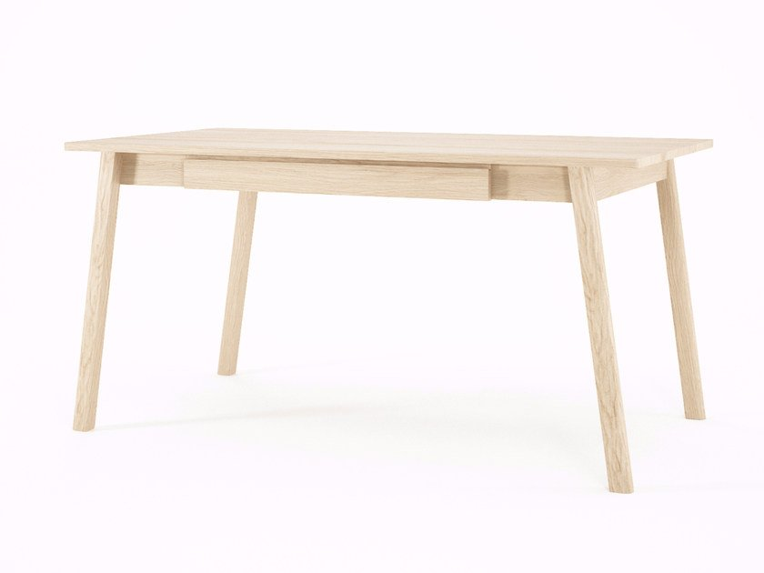 Rectangular wooden table with drawers CIRCA17 | Rectangular table by KARPENTER