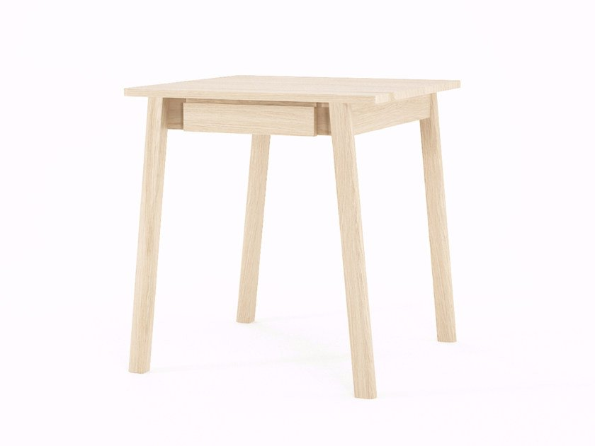 Square wooden table with drawers CIRCA17 | Square table by KARPENTER