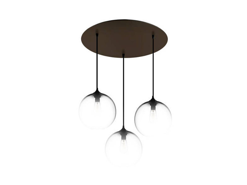 Lampada a sospensione a luce diretta fatta a mano in vetro soffiato CIRCULAR-3 - Niche Modern