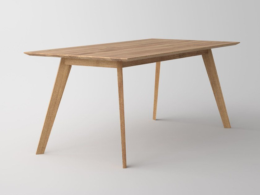 Rectangular solid wood table CITIUS - vitamin design