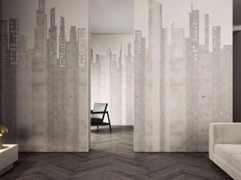 Washable landscape vinyl wallpaper CITY by GLAMORA