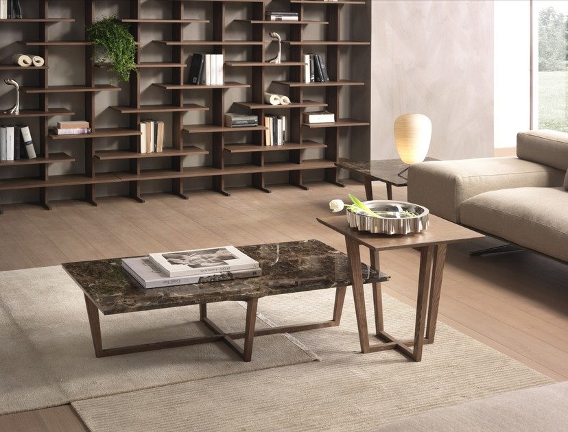 Rectangular coffee table CITY   Marble coffee table - Pacini & Cappellini