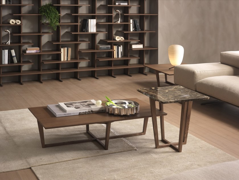 Rectangular coffee table CITY | Wood veneer coffee table - Pacini & Cappellini