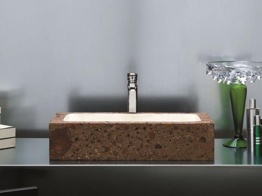 Countertop rectangular washbasin CIVITA   Rectangular washbasin by AZZURRA sanitari