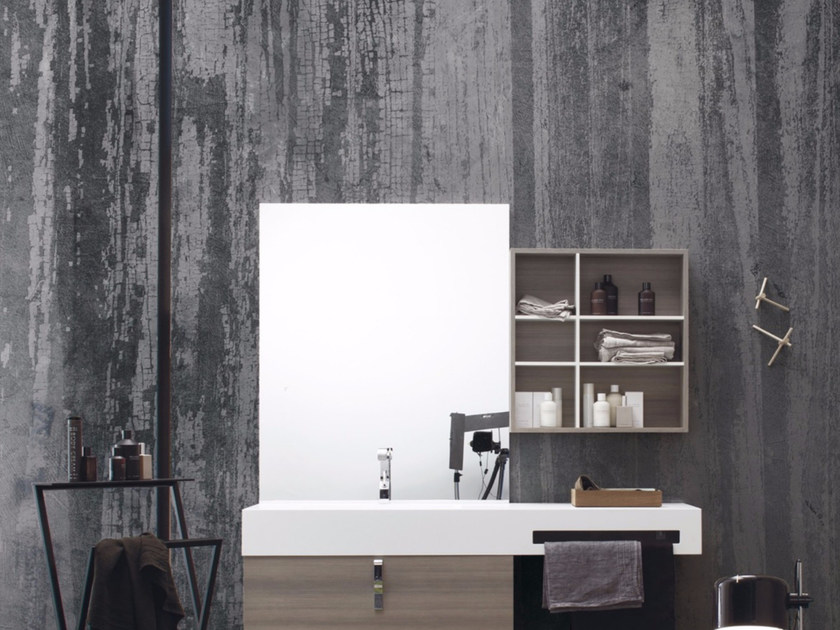 Wood effect panoramic wallpaper CLA CLA - Inkiostro Bianco