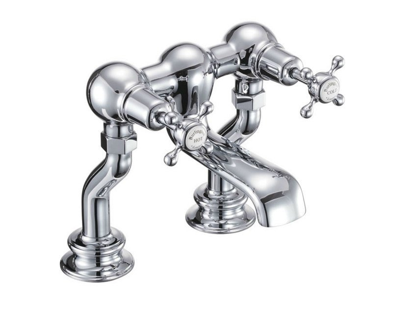 2 hole chromed brass bathtub tap with aerator CLAREMONT REGENT | 2 hole bathtub tap - Polo