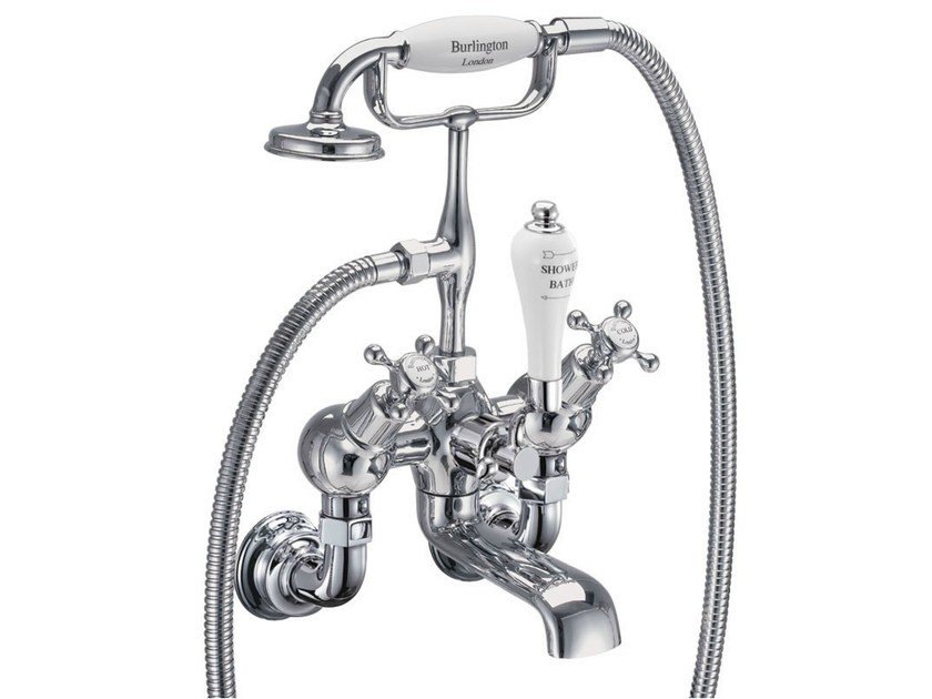 Wall-mounted bathtub tap with aerator with hand shower CLAREMONT REGENT | Bathtub tap with aerator - Polo
