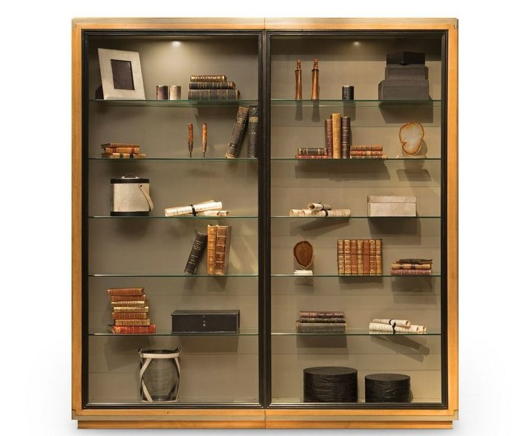 Wood veneer display cabinet CLARIDGE | Display cabinet - ROCHE BOBOIS