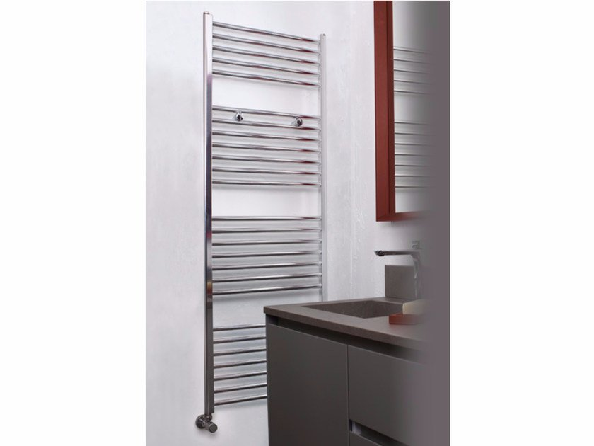 Hot-water chrome wall-mounted towel warmer CLASSIC AL-BATH - Radiatori2000