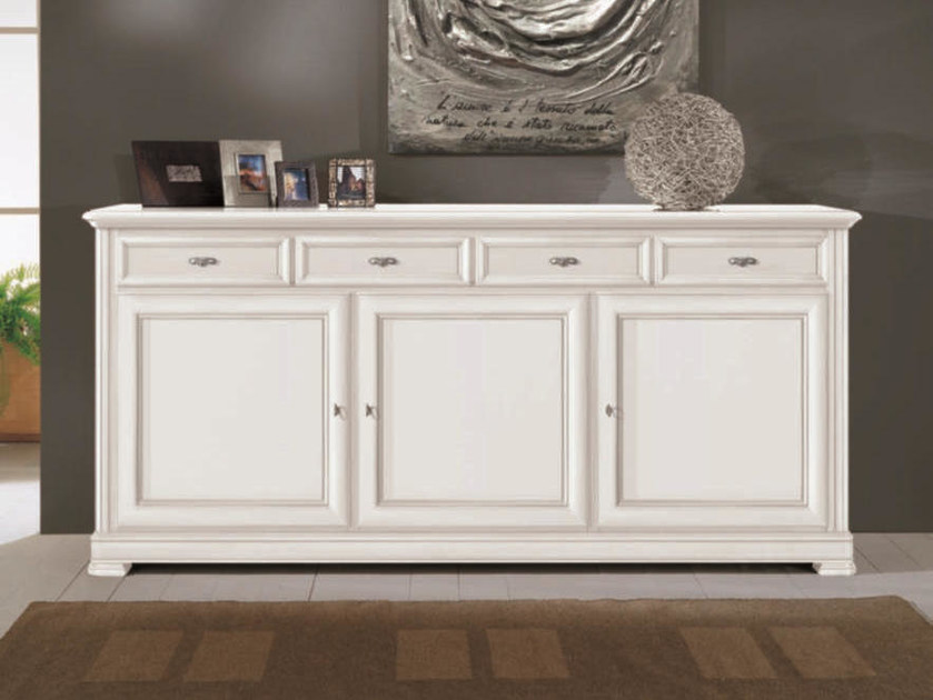 Solid wood sideboard with doors CAPRI | Lacquered sideboard by Arvestyle
