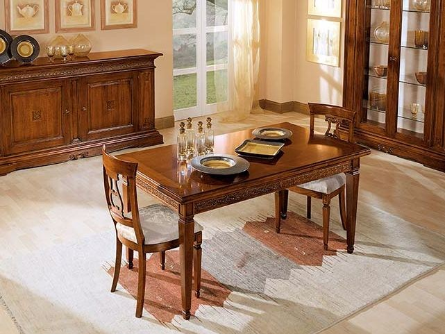 Extending solid wood table POSITANO | Table by Arvestyle
