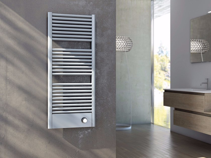 Hot-water vertical carbon steel towel warmer CLAUDIA® COVER - CORDIVARI