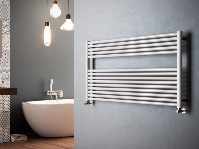 Scaldasalviette ad acqua calda orizzontale in acciaio al - Termoarredo orizzontale bagno ...