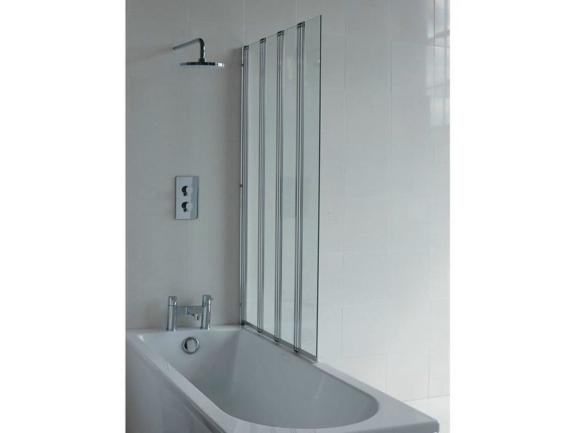Folding glass bathtub wall panel CLEARGREEN - BS5 - Polo