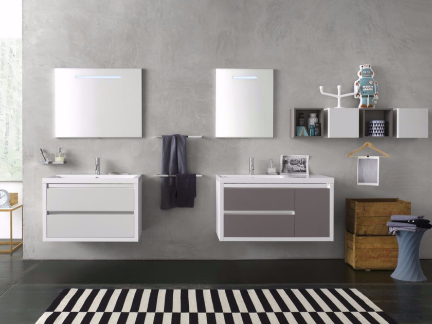 Sistema bagno componibile CLEVER - Composizione 1 - INDA®