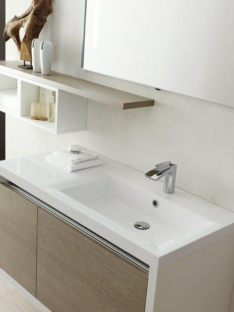 Laminate bathroom cabinet / vanity unit CLEVER - Composizione 4 - INDA®
