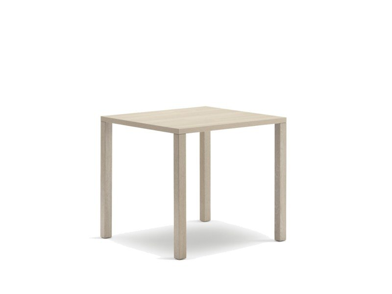 Square wooden contract table CLIENT | Wooden table by Wiesner-Hager