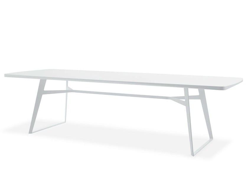Tavolo laccato rettangolare in legno impiallacciato CLIPPER | Tavolo laccato - Poliform