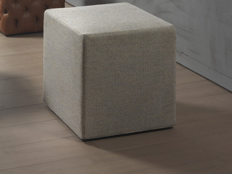 Upholstered fabric pouf CLOD | Fabric pouf - Pacini & Cappellini