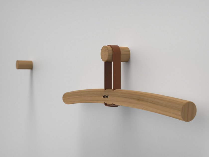 Iroko clothes hanger TWIG | Clothes hanger by Boffi