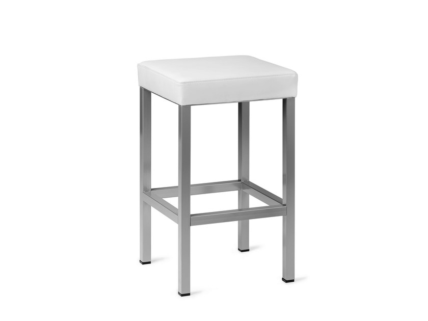 Upholstered imitation leather stool CLUB 418 - Mara