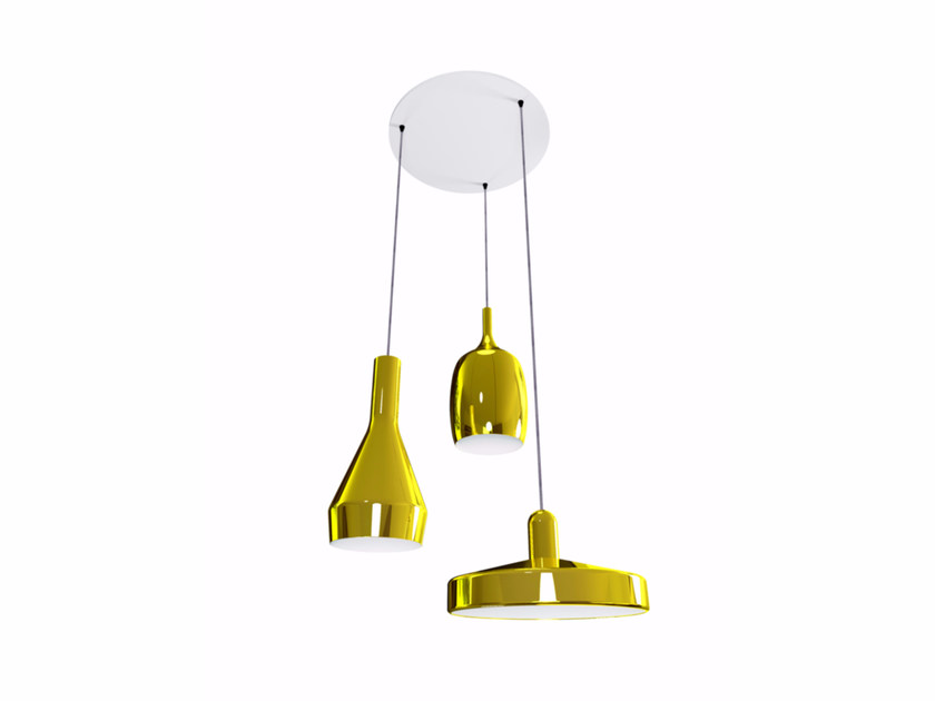 Aluminium pendant lamp CLUSTER by Marzais Créations