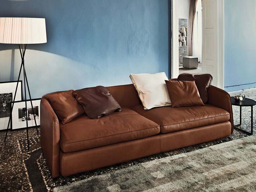 3 seater leather sofa COAST   Leather sofa - Arketipo