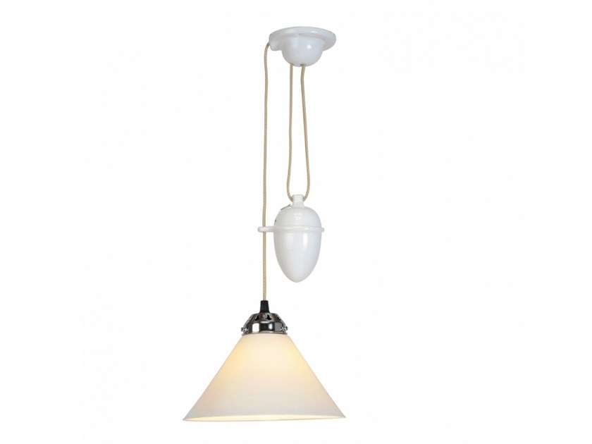 Adjustable porcelain pendant lamp with dimmer COBB SMALL RISE & FALL - Original BTC