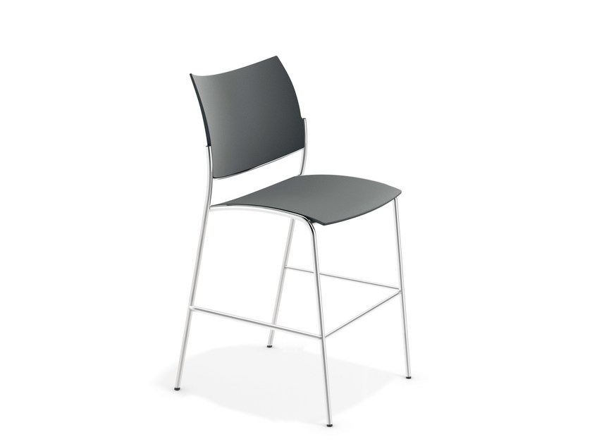 Chair with footrest COBRA BARSTOOL | Chair by Casala