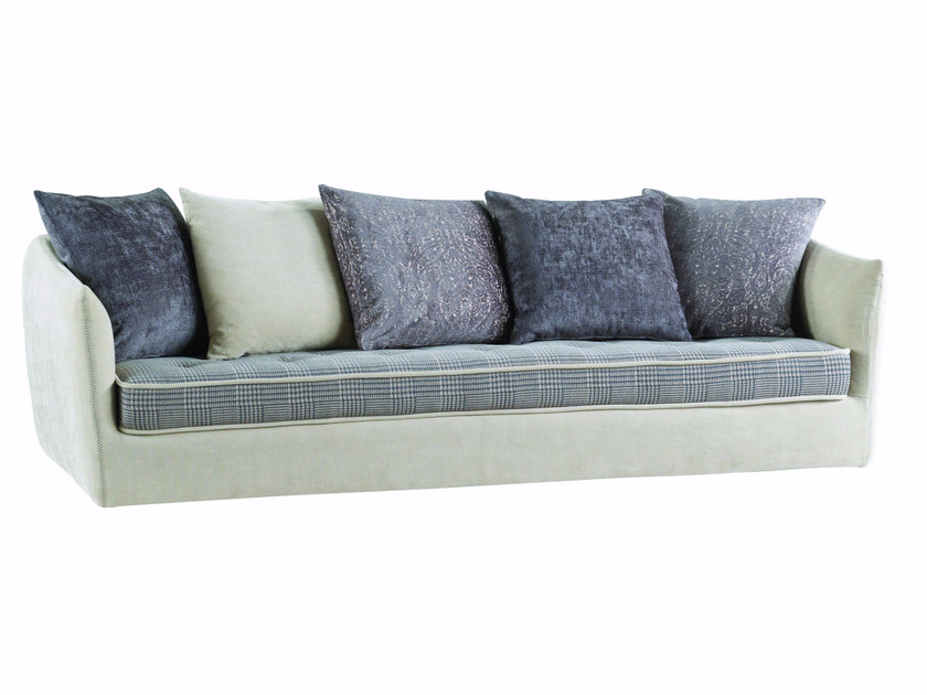 3 seater fabric sofa with removable cover COCOON by ROCHE BOBOIS